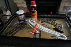 Le matériel qu'il faut pour changer une vitre d'insert