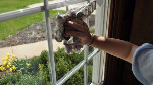 Utiliser un papier journal pour nettoyer les vitres sans traces