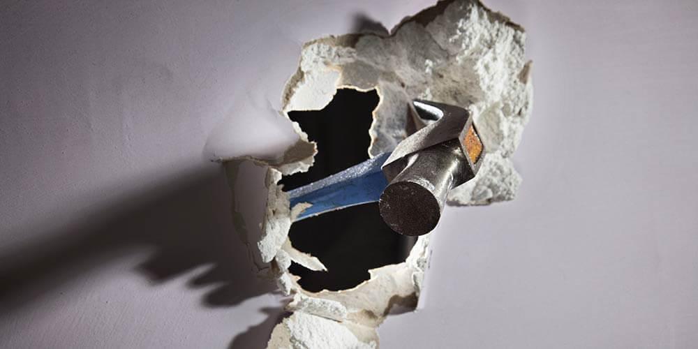 Comment réparer un trou dans le mur?