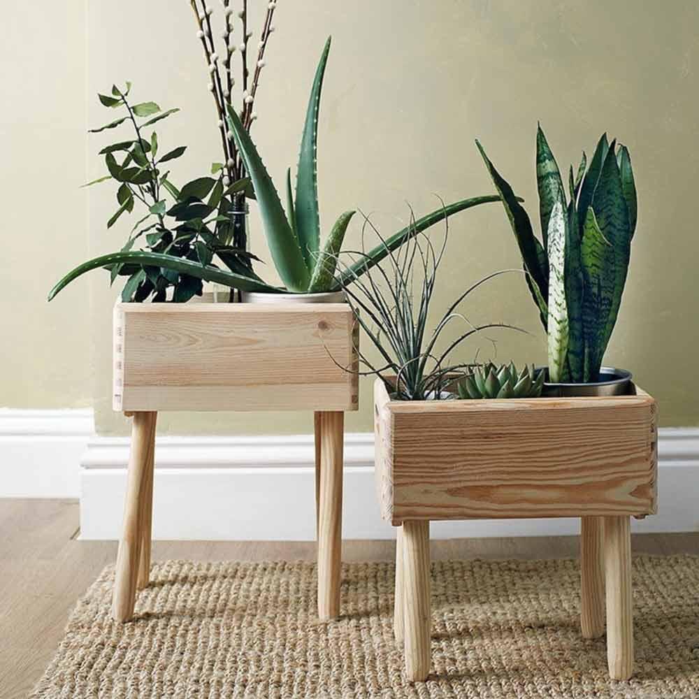 Conception de pots en bois