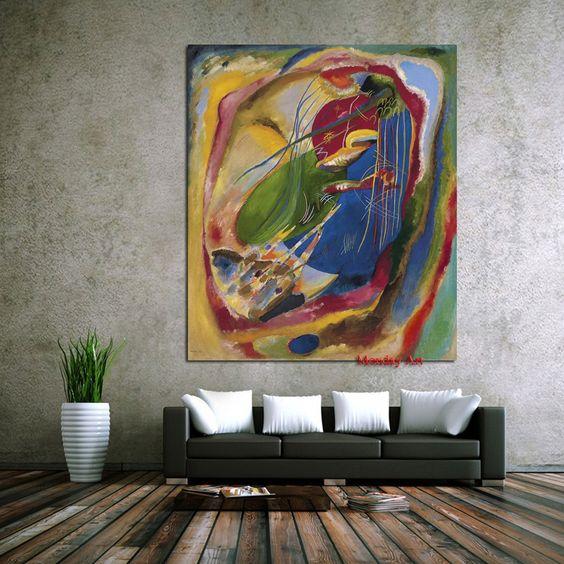 Égayer le salon avec des peintures murales aux couleurs vives